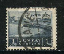 1930 - ALBANIA - 1q. GRIGIO LAGO DI BUTRINTO - USATO - LOTTO/29635