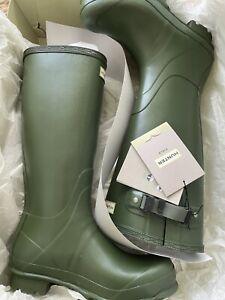 Hunter Norris Field Adjustable Boots UK 8 EU 42 Vintage Green Wellies A1 Cond!