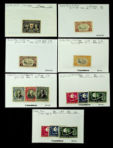 COSTA RICA FAMOUS PEOPLE RED CROSS UPU 13v MINT + USED STAMPS