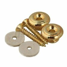 1 Set of 2 Mushrooms head Electric Guitar Strap buttons GOLD