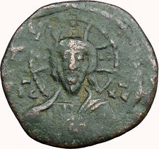 JESUS CHRIST Class A2 Anonymous Ancient 1028AD Byzantine Follis Coin  i33945