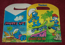 """SMURFS HARDEE""""S Funmeal Pack Happy Meal BOX 1990 RARE Skateboard SK8 NO TOY ADS"""
