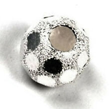 1 STERLING SILVER DIAMOND CUT STARDUST ROUND SPACER BEAD, 6 MM