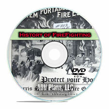 The Vintage History of Firefighting, Firemen, Fire Depts, City Fires DVD PDF F51