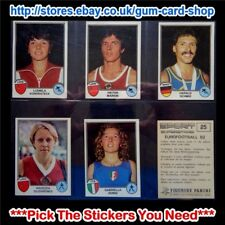 PANINI - SPORT SUPERSTARS / EURO FOOTBALL 82 *PICK THE STICKERS YOU NEED*