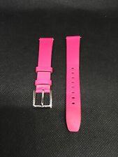0dfd2e7e9 DKNY 16mm Pink Genuine Leather Bracelet Watch Band R249