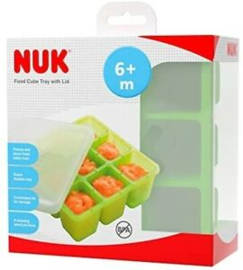 NUK Food Cube Tray With Lid Freezing Baby Food BPA Free 6 Months+