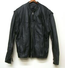 Authentic Men's HARLEY DAVIDSON Leather WILLIE G Convertible Jacket Vest Size XL