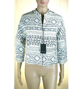 Giacca Donna Giubbotto TOY G by PINKO Made in Italy LU328 Blu/Beige Tg 42
