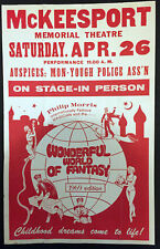 Original Philip Morris 1969 World Of Fantasy Window Card