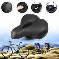 Wide Bicycle Saddle MTB Bike Seat Big Bum Soft Comfort Cushion Pads Sprung Gel.