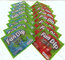Fun Dip ~ Razz Apple Magic Dip and Cherry Yum Diddly Dip ~ 16 Pouches of Candy