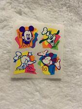 Vintage MICKEY & GANG NEON FLUORESCENT Sandylion Stickers  DISNEY