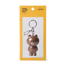 [LINE FRIENDS] Figure Key-ring BROWN Key Chain 100% Authentic Free Tracking