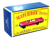 Matchbox Lesney No 39 PONTIAC CONVERTIBLE TRUCK Empty Repro Box style D