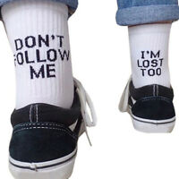 dont follow me Letter Printed Ankle Socks Summer Casual Sport Cotton Sock Fy