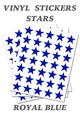 50 Royal Blue Star Merit Stickers - Self Adhesive Vinyl Labels size 15mm each