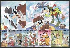 Walt Disney, Hafnia, Andersen - Grenada - 1702-1709, Bl.196-197 ** MNH 1987