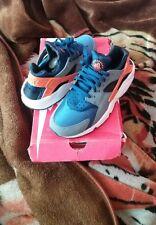 MEN's Nike AIR HUARACHE, blu / arancio Taglia 7.5 UK