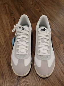 Puma Mens Turino Nl Lace Up Sneakers Shoes - WhiteSize 10