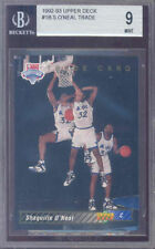 1992-93 upper deck #1b SHAQUILLE O'NEAL trade rookie BGS 9 (9.5 8.5 9 9)