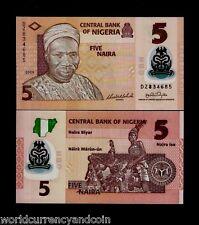 Nigeria 5 Niara 2009 *Replacement* Dz Polymer Unc Dancer Currency Money Banknote