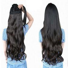 28 Pulgadas De Clip en extensiones de cabello una sola pieza 5 Clips 3/4 Completo Cabeza feels like real