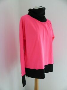 VSX Victoria's Secret pink black roll neck warm down up workout jumper M 12 VGC