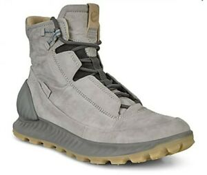 ECCO Exostrike Wild Dove Grey Dyneema Leather Sneaker Boots EU 47 Mens 13 US New