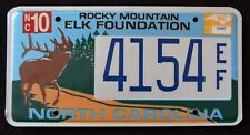 "NORTH CAROLINA "" WILDLIFE ROCKY MOUNTAIN ELK "" NC Specialty License Plate"