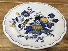 Spode Blue Bird England Yellow S3274 Floral Fruit Dinner Plate Marlborough Shape