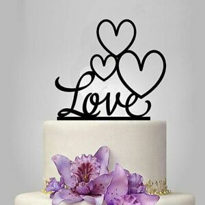 Wedding Cake Topper 15x15cm Acrylic  Sweet Together In Love Cupcake Party Decors