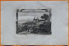 VAN DER AA Gravure originale c1725 VUE D'ORANGE Château Murailles Vaucluse