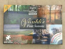 JIGSAW PUZZLE 4 X 250 PIECE - VIVALDI FOUR SEASONS SIGHT & SOUND INCLUDES CD