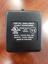 Power Supply Plug-In Class 2 Transformer 120VAC 60hz, 16W; Output: 12VAC 1000mA