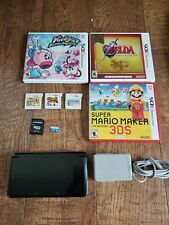 Nintendo 3DS Handheld System Console Cosmo Black 6 Games & 32 GB SD Card Tested