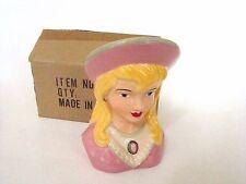Lady Head Vase - Lady Head Vase Wall Pocket Blonde in Pink Hat