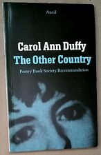 """1990 FLAT SIGNED Carol Ann Duffy """"The Other Country"""" British Poet Girlfriends"""
