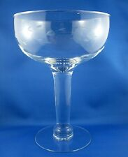 PRINCESS HOUSE France HERITAGE Giant CRYSTAL Etched Champagne Glass VG - In Aust