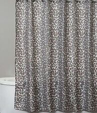 Saturday Knight Zanzibar Fabric Shower Curtain With Leopard Pattern, Jungle Bath