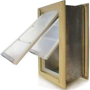 Endura Pet Door Medium Double Flap Insulated All Weather *Needs Repair