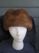 Be a royal princess in a beautiful Canadian mink fur hat! A+ condit, glamour!