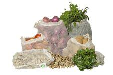 Reusable100% Organic Cotton Mesh Produce Bags - Set of 6 (2L, 2M, 2S)