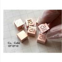 New High Purity 99.95% Copper Cu 10mm Metal Carved Element Periodic Table