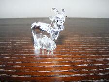 "Swarovski   Zodiac  Goat   Ht. 1.1/2""   Length  1.1/2""  Swan  Logo  ( Retired )"