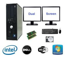 DELL Dual Core 4gb RAM 80gb HDD PC de escritorio Windows 7 Ordenador PANTALLA