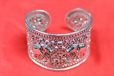 NEVER WORN! .925 STERLING SILVER ROSS-SIMONS FILAGREE ELEPHANT CUFF BRACELET