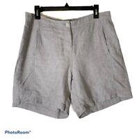 J.Jill 10 Love Linen Shorts Gray