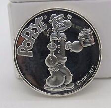 Vintage Popeye 1 Troy oz .999 Fine Silver Round Coin 1oz 999 RARE