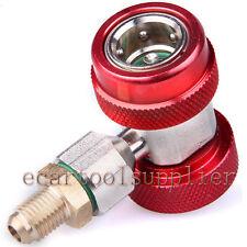 HVAC R134a A/C Refrigeración Kit Conector Kit Alta presión Adaptador Rápido Rojo